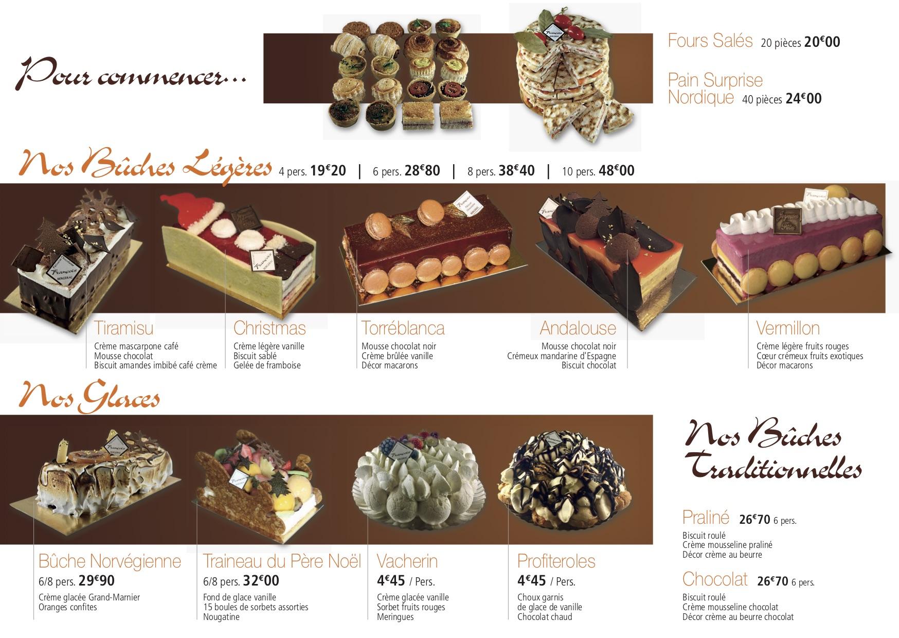 Dépliant Desserts Noël François 2018 2